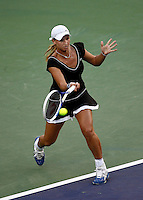 15 March 2007: Tatiana Golovin (FRA) on the main court at the 2007 Pacific Life Open Tennis Tournament in Indian Wells, CA.