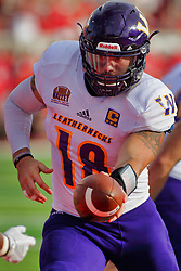 NORMAL, IL - October 06: Sean McGuire during a college football game between the ISU (Illinois State University) Redbirds and the Western Illinois Leathernecks on October 06 2018 at Hancock Stadium in Normal, IL. (Photo by Alan Look)