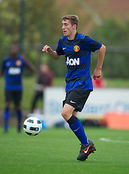 LIVERPOOL, ENGLAND - Friday, October 14, 2011: Manchester United's Joseph Rothwell in action against Liverpool during the FA Premier League Academy match at the Kirkby Academy. (Pic by David Rawcliffe/Propaganda)