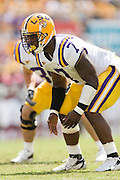 Baton Rouge, LA - SEPTEMBER 30:  Ali Highsmith #7 of the LSU Tigers against the Mississippi State Bulldogs at Tiger Stadium on September 30, 2006 in Baton Rouge, Louisiana.  The Tigers defeated the Bulldogs 48 - 17.  (Photo by Wesley Hitt/Getty Images) *** Local Caption *** Ali Highsmith