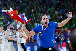 Matej Likar celebrates during the Final basketball match between National Teams  Slovenia and Serbia at Day 18 of the FIBA EuroBasket 2017 at Sinan Erdem Dome in Istanbul, Turkey on September 17, 2017. Photo by Vid Ponikvar / Sportida
