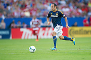FRISCO, TX - AUGUST 11:  Landon Donovan #10 of the Los Angeles Galaxy breaks away from FC Dallas on August 11, 2013 at FC Dallas Stadium in Frisco, Texas.  (Photo by Cooper Neill/Getty Images) *** Local Caption *** Landon Donovan