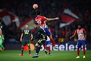 Diego Costa of Atletico de Madrid and Miralem Pjanic of Juventus during the UEFA Champions League, round of 16, 1st leg football match between Atletico de Madrid and Juventus on February 20, 2019 at Wanda metropolitano stadium in Madrid, Spain - Photo Oscar J Barroso / Spain ProSportsImages / DPPI / ProSportsImages / DPPI