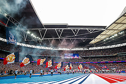 The atmosphere builds before kick off - Mandatory byline: Rogan Thomson/JMP - 21/05/2016 - FOOTBALL - Wembley Stadium - London, England - Crystal Palace v Manchester United - FA Cup Final.
