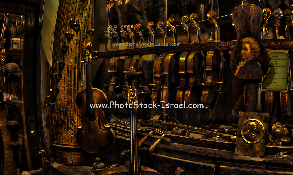 Digitally manipulated image of a Violin repair workshop