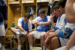 05 April 2008: North Carolina Tar Heels defenseman Tim Kaiser (22) before playing the Virginia Cavaliers in Chapel Hill, NC.