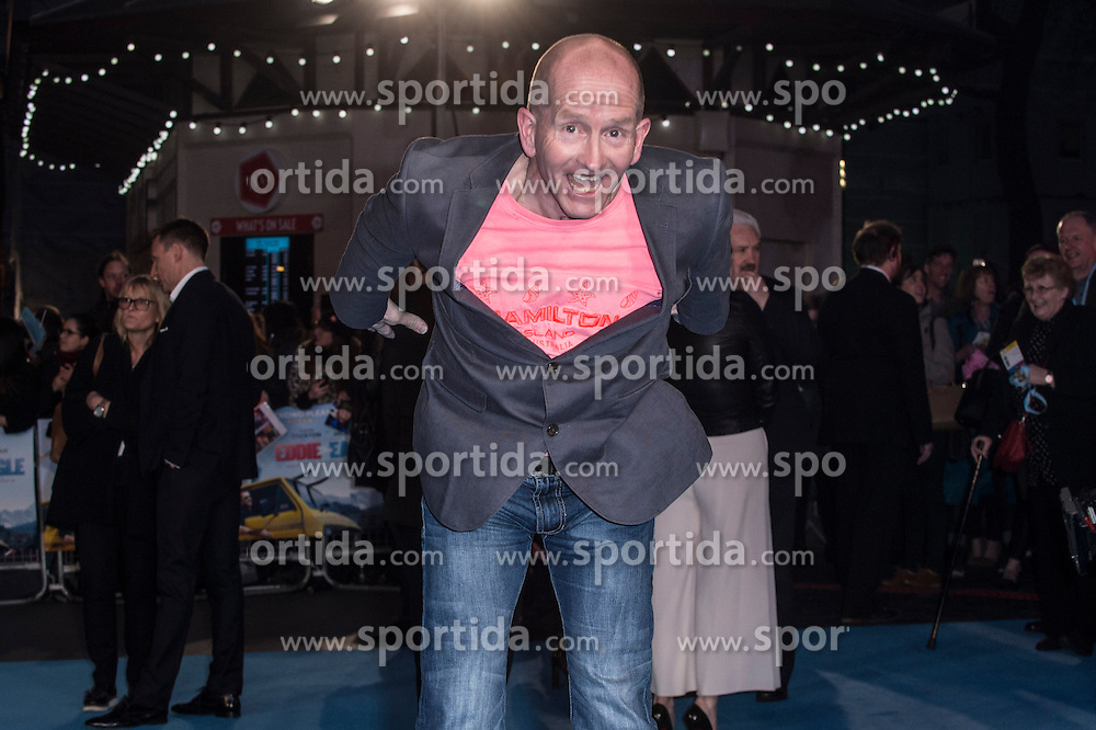 Eddie &quot;The Eagle&quot; Edwards attends the European premiere for &quot;Eddie the Eagle at Odeon Leicester Square in London, 17.03.2016. EXPA Pictures &copy; 2016, PhotoCredit: EXPA/ Photoshot/ Euan Cherry<br /> <br /> *****ATTENTION - for AUT, SLO, CRO, SRB, BIH, MAZ, SUI only*****