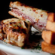 Croque Monsieur at the Café Chanson restaurant in De Pere, Wis., on Tuesday, January 8, 2013. Lukas Keapproth/Press-Gazette