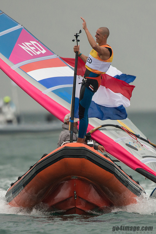 2012 Olympic Games London / Weymouth<br /> RSX Medal Race<br /> Van Rijsselberge Dorian, (NED, RS:X Men)