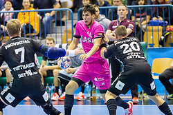 Daniel Dujshebaev of RK Celje Pivovarna Lasko during handball match between RK Celje Pivovarna Lasko and THW Kiel in Group Phase A+B of VELUX EHF Champions League, on November 19, 2017 in Arena Zlatorog, Celje, Slovenia. Photo by Ziga Zupan / Sportida