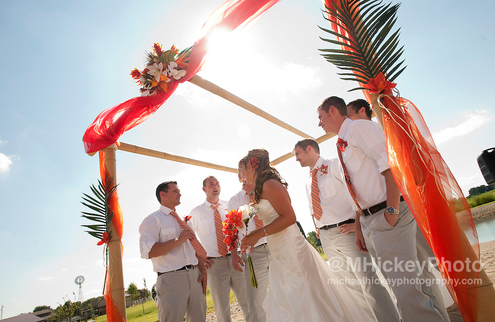 Wedding of Josh Vinson and Erica Mason in Kokomo, Indiana on August 13, 2011...Wedding photography by Michael Hickey