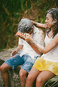 Mike & Joyce had a food fight, a pretty epic one.