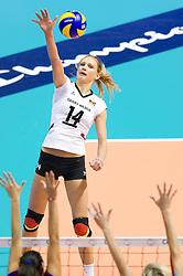 29.09.2011, Hala Pionir, Belgrad, SRB, Europameisterschaft Volleyball Frauen, Viertelfinale, Deutschland (GER) vs. Tschechien (CZE, im Bild Margareta Kozuch (#14 GER / Sopot POL) // during the 2011 CEV European Championship, Quarterfinal at Hala Pionir, Belgrade, SRB, Germany vs Czech Republic, 2011-09-29. EXPA Pictures © 2011, PhotoCredit: EXPA/ nph/  Kurth       ****** out of GER / CRO  / BEL ******