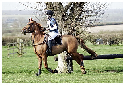Buckingham Riding Club Eventer Trials at Milton Keynes Riding Club..5-4-2009.Emeralds Dream