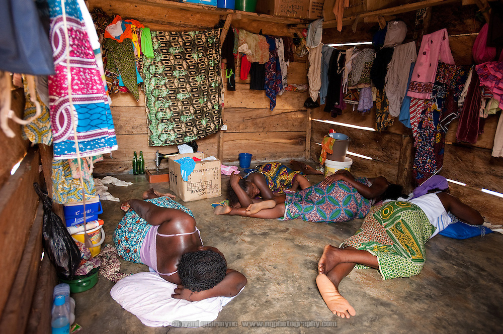 Ten people share this windowless single room in Old Fadama. Colloquially referred to as 'Sodom and Gomorrah, Old Fadama is located in Ghana's capital Accra and is home to some some 80,000 people.