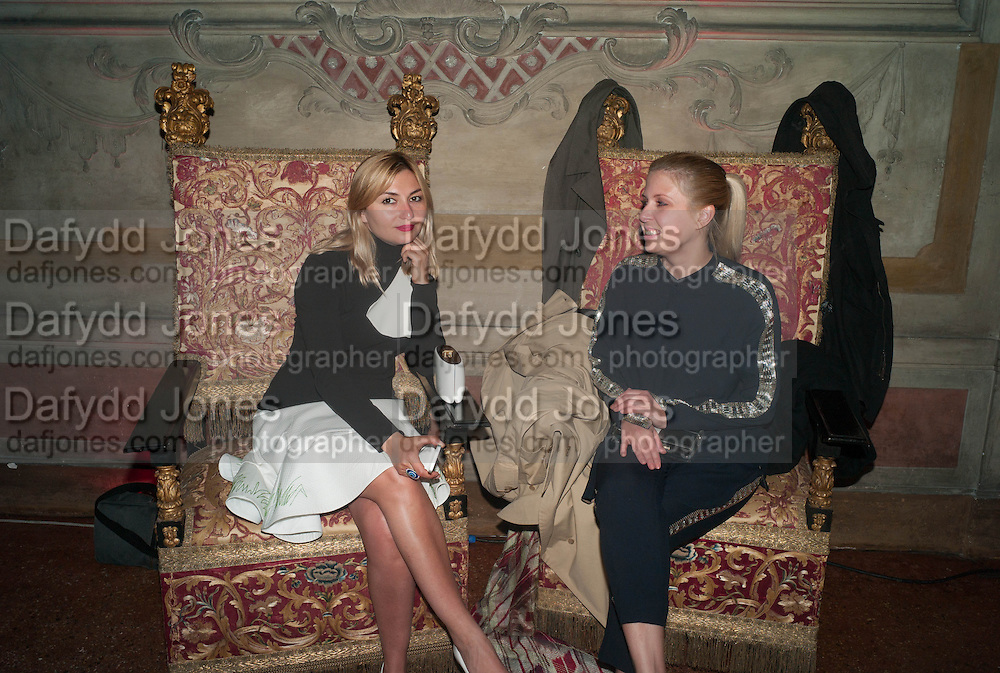 NASIBA ADILOVA; MARIA VOGANOVICH, Andrea Dibelius of the EMDASH Foundation hosts party to celebrate the Austrian Pavilion and artist Mathias Poledna at the Venice Biennale. Palazzo Barbaro, Venice. 30 May 2013<br /> <br /> <br /> Venice. Venice Bienalle. 28 May 2013