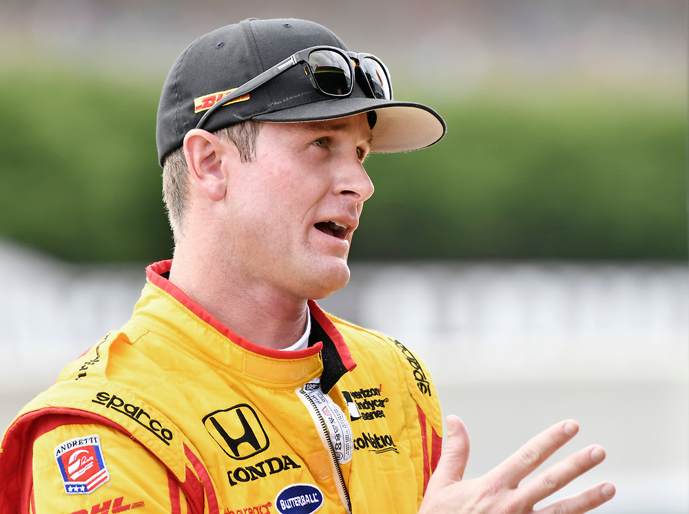 2017 Verizon IndyCar Series<br /> Honda Indy Grand Prix of Alabama<br /> Barber Motorsports Park, Birmingham, AL USA<br /> Saturday 22 April 2017<br /> Ryan Hunter-Reay, Andretti Autosport Honda<br /> World Copyright: Scott R LePage<br /> LAT Images<br /> ref: Digital Image lepage-170422-bhm-2655