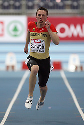 Stefan Schwab of Germany at the qualification of 60m men at the 2nd day of  European Athletics Indoor Championships Torino 2009 (6th - 8th March), at Oval Lingotto Stadium,  Torino, Italy, on March 6, 2009. (Photo by Vid Ponikvar / Sportida)