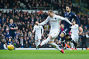 Leeds United Forward Pierre-Michel Lasogga as a shot at goal during the EFL Sky Bet Championship match between Leeds United and Millwall at Elland Road, Leeds, England on 20 January 2018. Photo by Craig Zadoroznyj.