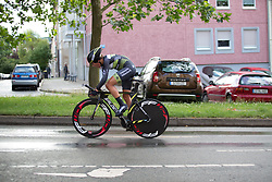 Sophie de Boer (NED) of Parkhotel Valkenburg - Destil Cycling Team digs deep during the prologue of the Lotto Thuringen Ladies Tour - a 6.1 km individual time trial, starting and finishing in Gera on July 12, 2017, in Thuringen, Germany. (Photo by Balint Hamvas/Velofocus.com)