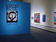 """Coming Home title wall image by:<br /> <br /> Mary T. Smith (1904 or 1905-1995)<br /> """"Halleluja Lady,"""" 1987<br /> Paint on plywood, 23.25 x 24<br /> Collection of Dan and Kristi Cleary<br /> <br /> The pose of Mary T. Smith's """"Halleluja Lady"""" who is pictured with upraised arms is known in both black and white churches. The gesture, which is sometimes identified as one of prayer, praise or supplication, appears in ancient African works of art and is also found in Western European artistic traditions going back to Early Christian times.<br /> <br /> <br /> What is """"Coming Home?""""<br /> <br /> Coming Home! Self-Taught Artists, the Bible and the American South is an exhibition of art by 70 untrained Southern artists. These works show the Bible's influence and the teachings of evangelical Protestantism, the religion most prevalent in the South. <br /> <br /> Coming Home! demonstrates the extraordinary creativity of self-taught artists,how the Bible's influence permeates their art, and how their work relates to other forms of Southern artistic expression, such as literature and music. The exhibition is divided into 4 parts: Southern Religious Life, The Garden of Eden, The New Adam, and The New Heavens and Earth."""
