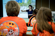 Grandparent University in workshop learning about landscape design. Qing Lana Luo
