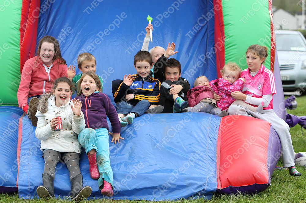 19/10/13 Pictured at Scariff Rugby Clubs 50 year celebrations were some of the children from Scariff. Pic Tony Grehan / Press 22