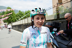 Elise Chabbey (SUI) after Stage 2 of 2019 Giro Rosa Iccrea, an 78.3 km road race starting and finishing in Viù, Italy on July 6, 2019. Photo by Sean Robinson/velofocus.com