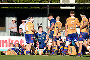 James Lentjes of Otago scores a try during the Ranfurly Shield match between Otago and North Otago, held at Whitestone Contracting Stadium, Oamaru, New Zealand, 26 July 2019. Credit: Joe Allison / www.Photosport.nz