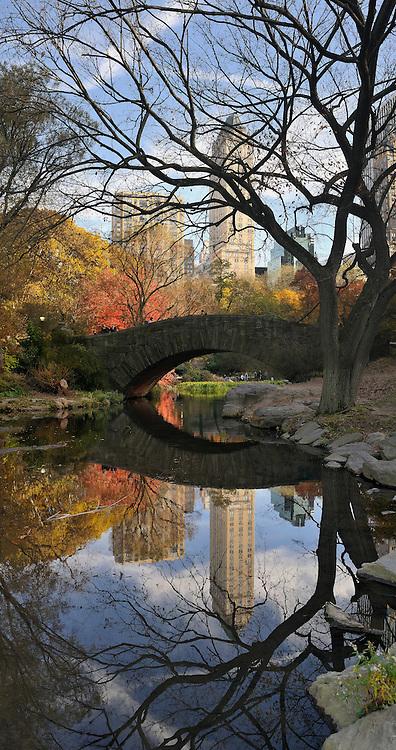 Gapstow Bridge in Central Park.