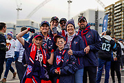 Houston Texans fans outside Wembley during the International Series match between Jacksonville Jaguars and Houston Texans at Wembley Stadium, London, England on 3 November 2019.