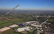 aerial photograph of Birstall  Leeds Yorkshire England UK
