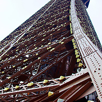 Europe, France, Paris. Eiffel Tower. Eiffel Tower Perspective.