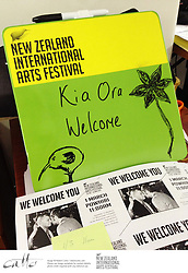 Staff and crew of the New Zealand International Arts Festival prepare for 24 days of events in Wellington.