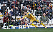 Goal scored past Gillingham goalkeeper Tomas Holy by Dominic Poleon of Bradford City (not pictured) during the EFL Sky Bet League 1 match between Bradford City and Gillingham at the Northern Commercials Stadium, Bradford, England on 24 March 2018. Picture by Paul Thompson.