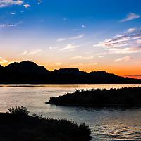 Sunset on Lake Havasu in Arizona.