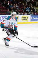 KELOWNA, CANADA, FEBRUARY 11: Stewart Coyle #6 of the Kelowna Rockets skates on the ice as the Kamloops Blazers visit the Kelowna Rockets on February 11, 2012 at Prospera Place in Kelowna, British Columbia, Canada (Photo by Marissa Baecker/Shoot the Breeze) *** Local Caption ***