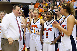 20 March 2010: The Flying Dutch gather and wait for the trophy presentations to begin. The Flying Dutch of Hope College fall to the Bears of Washington University 65-59 in the Championship Game of the Division 3 Women's NCAA Basketball Championship the at the Shirk Center at Illinois Wesleyan in Bloomington Illinois.