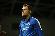 Brighton striker (on loan from Manchester United), James Wilson (21) warming up during the Sky Bet Championship match between Brighton and Hove Albion and Ipswich Town at the American Express Community Stadium, Brighton and Hove, England on 29 December 2015.