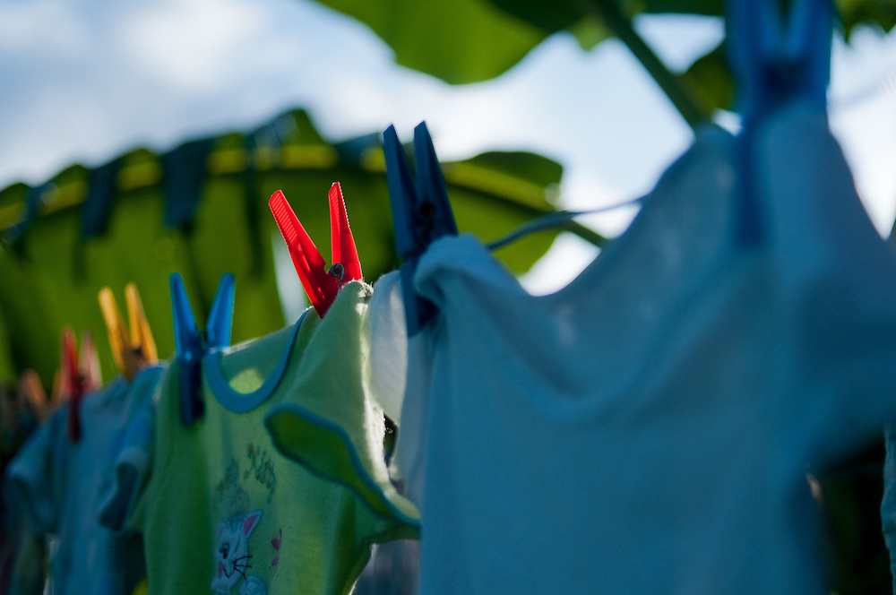 Clothes Line in Portmore, Jamaica.  Taken in 2009.