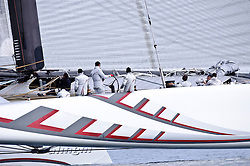 February 7th 2010, Training Day  Sailing Team > Sailing > Sport, Alinghi 5, Alinghi > AC > Sailing Team > Sailing > Sport, America's Cup, Boat > Subject, Distributed by go4image, Ernesto Bertarelli, Mediterranean Sea, Multihull, Sailing > Sport, Sailing Team > Sailing > Sport, Sea, Yacht