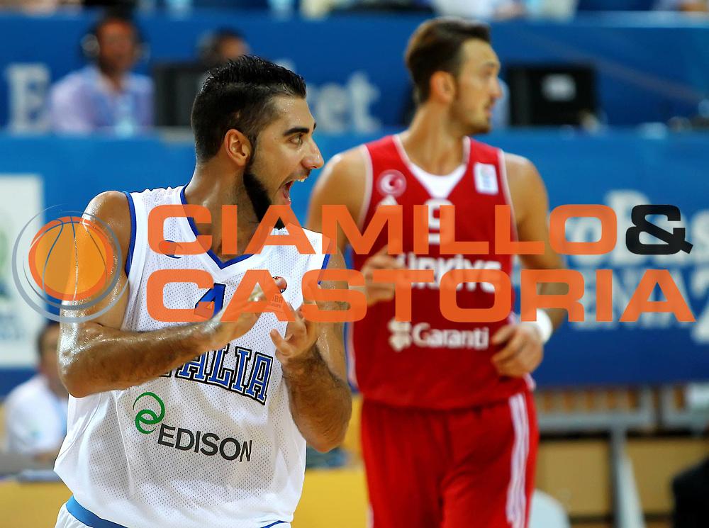 DESCRIZIONE : Koper Slovenia Eurobasket Men 2013 Preliminary Round Italia Turchia Italy Turkey<br /> GIOCATORE : Pietro Aradori<br /> CATEGORIA : esultanza jubilation<br /> SQUADRA : Italia Italy<br /> EVENTO : Eurobasket Men 2013<br /> GARA : Italia Turchia Italy Turkey<br /> DATA : 05/09/2013 <br /> SPORT : Pallacanestro <br /> AUTORE : Agenzia Ciamillo-Castoria/ElioCastoria<br /> Galleria : Eurobasket Men 2013<br /> Fotonotizia : Koper Slovenia Eurobasket Men 2013 Preliminary Round Italia Turchia Italy Turkey<br /> Predefinita :