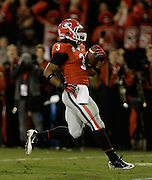 ATHENS, GA - NOVEMBER 23:  Tailback Todd Gurley #3 of the Georgia Bulldogs runs for a second quarter touchdown during the game against the Kentucky Wildcats at Sanford Stadium on November 23, 2013 in Athens, Georgia.  (Photo by Mike Zarrilli/Getty Images)