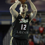 Erie BayHawks Guard Seth Curry (12) takes a free-throw in the second half of a NBA D-league regular season basketball game between the Delaware 87ers and the Erie BayHawk (Orlando magic) Friday, Jan. 02, 2015 at The Bob Carpenter Sports Convocation Center in Newark, DEL