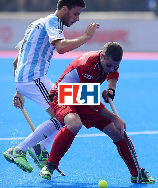 Odisha Men's Hockey World League Final Bhubaneswar 2017<br /> Match id:03<br /> Argentina v Belgium<br /> Foto: Alan Andino (Arg) <br /> WORLDSPORTPICS COPYRIGHT FRANK UIJLENBROEK