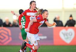 Lucy Graham of Bristol City scores from the spot - Mandatory by-line: Nizaam Jones/JMP - 27/01/2019 - FOOTBALL - Stoke Gifford Stadium - Bristol, England - Bristol City Women v Yeovil Town Ladies- FA Women's Super League 1