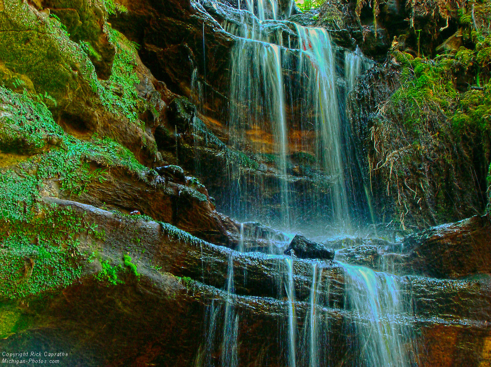 Tannery Falls Multiple Exposure HDR, Munising, Michigan's Upper Peninsula