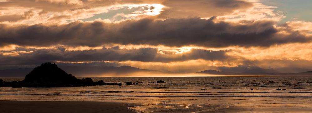 Monkey Island, sunset, Southland, New Zealand