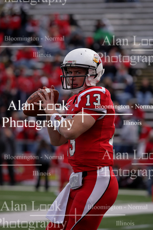 17 October 2009: Matt Brown, quarterback. The Indiana State Sycamores tumble to the Illinois State Redbirds 38-21 at Hancock Stadium on campus of Illinois State University in Normal Illinois