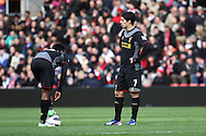Picture by Daniel Chesterton/Focus Images Ltd +44 7966 018899.16/03/2013.Daniel Sturridge of Liverpool and Luis Suarez of Liverpool look dejected after Southampton's first goal during the Barclays Premier League match at the St Mary's Stadium, Southampton.